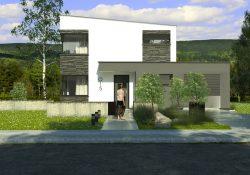 Pohľad z ulice na rodinný dom CETUS