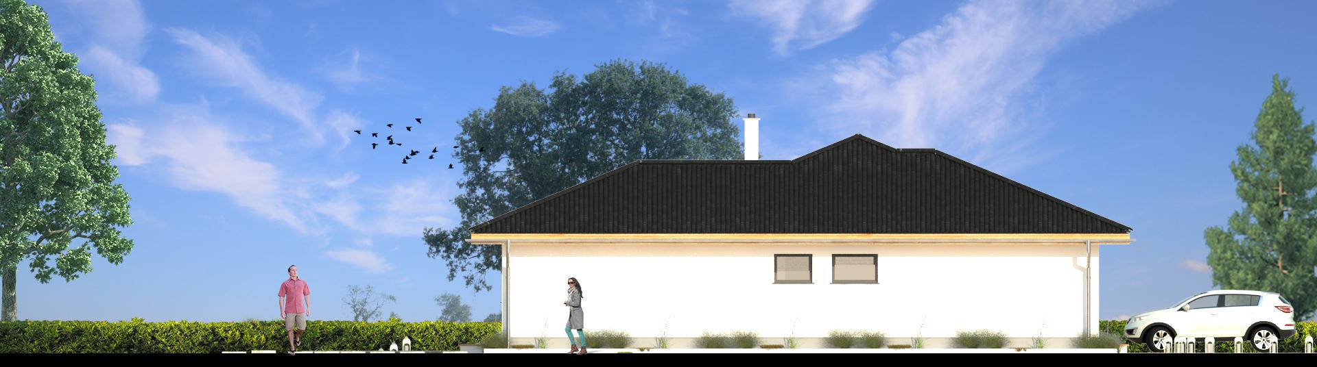 Pohľad zozadu na rodinný dom NAVI